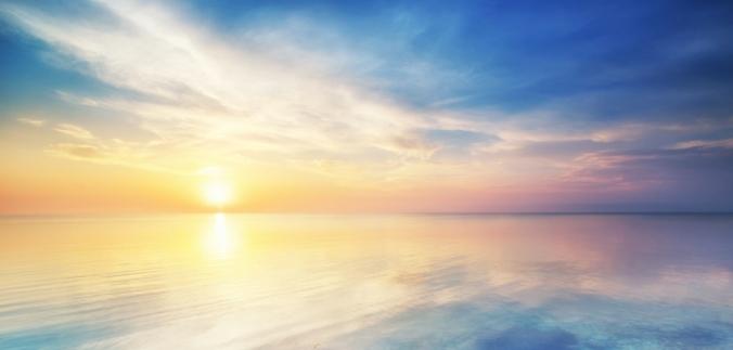 Glistening ocean